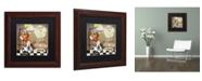 "Trademark Global Color Bakery 'Childhood II' Matted Framed Art - 11"" x 11"""