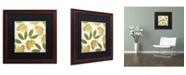 "Trademark Global Color Bakery 'English Garden I' Matted Framed Art - 16"" x 16"""