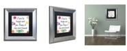 """Trademark Global Color Bakery 'Happy' Matted Framed Art - 11"""" x 11"""""""