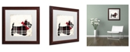 "Trademark Global Color Bakery 'Scotty II' Matted Framed Art - 16"" x 16"""