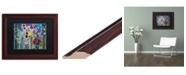 """Trademark Global Carrie Schmitt 'Pincha Mayurasana' Matted Framed Art - 11"""" x 14"""""""