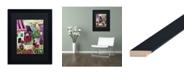 "Trademark Global Natasha Wescoat 'La Vie En Rose' Matted Framed Art - 16"" x 20"""