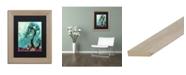 "Trademark Global Natasha Wescoat 'Spritely Blue Willows' Matted Framed Art - 11"" x 14"""