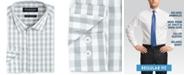 Nick Graham Men's Modern-Fit Performance Stretch Mini-Gingham Dress Shirt