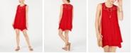 Style & Co Petite Lace-Yoke Handkerchief-Hem A-Line Dress, Created for Macy's