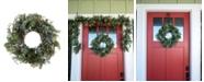 "Village Lighting Rustic White Berry 24"" Wreath"