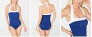 Lauren Ralph Lauren Bel-Air Tummy-Control Ruched Halter One-Piece Swimsuit