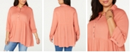 Style & Co Plus Size Babydoll Shirt, Created for Macy's