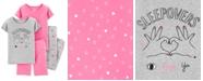 Carter's Little & Big Girls 4-Pc. Cotton Love Ya Hearts Pajama Set