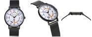 Nautica N83 Men's NAPWGS904 Wave Garden Black/White Stainless Steel Mesh Band Watch