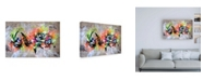 "Trademark Global Taka Sudo Word Canvas Art - 36.5"" x 48"""