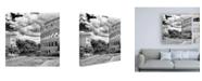 "Trademark Global Philippe Hugonnard Dolce Vita Rome 3 Colosseum View II Canvas Art - 19.5"" x 26"""