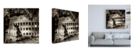 "Trademark Global Philippe Hugonnard Dolce Vita Rome 3 Colosseum at Night III Canvas Art - 36.5"" x 48"""