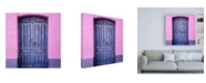 "Trademark Global Philippe Hugonnard Made in Spain 3 Purple Door in Seville Canvas Art - 36.5"" x 48"""