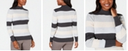 Karen Scott Ribbed Mock-Neck Cotton Sweater, Created for Macy's