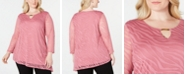 JM Collection Plus Size Burnout Tunic, Created for Macy's