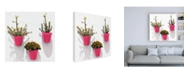 """Trademark Global Philippe Hugonnard Made in Spain 3 Pink Pots Wall Canvas Art - 15.5"""" x 21"""""""