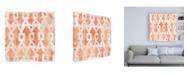 "Trademark Global June Erica Vess Red Earth Textile III Canvas Art - 36.5"" x 48"""