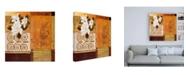 "Trademark Global Pablo Esteban Floral Collage on Orange Canvas Art - 15.5"" x 21"""
