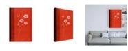 """Trademark Global Pablo Esteban Red Under Medium White Flowers Canvas Art - 27"""" x 33.5"""""""