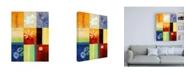 "Trademark Global Pablo Esteban Square Floral Collage Canvas Art - 15.5"" x 21"""