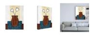 "Trademark Global Pablo Esteban White Flowers in Brown Vase Canvas Art - 19.5"" x 26"""