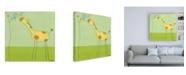 """Trademark Global June Erica Vess Stick leg Giraffe II Childrens Art Canvas Art - 15.5"""" x 21"""""""