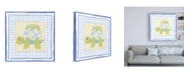 """Trademark Global Megan Meagher Turtle with Plaid III Childrens Art Canvas Art - 36.5"""" x 48"""""""
