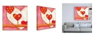 "Trademark Global Nancy Slocum Pop Hearts IV Childrens Art Canvas Art - 15.5"" x 21"""