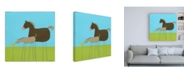 """Trademark Global June Erica Vess Stick leg Horse II Childrens Art Canvas Art - 36.5"""" x 48"""""""