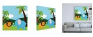 "Trademark Global June Erica Vess Jungle Jamboree IV Childrens Art Canvas Art - 19.5"" x 26"""