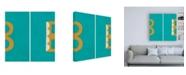 "Trademark Global Chariklia Zarris Luciens B 6 Up Canvas Art - 15.5"" x 21"""