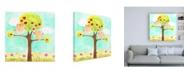 "Trademark Global June Erica Vess Hoots & Hearts I Canvas Art - 15.5"" x 21"""