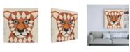 "Trademark Global Chariklia Zarris Zoo Portrait II Canvas Art - 15.5"" x 21"""