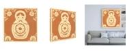 "Trademark Global June Erica Vess Russian Doll in Orange Canvas Art - 36.5"" x 48"""