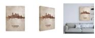 "Trademark Global Michael Tompsett Pittsburgh Pennsylvania Rust Skyline Canvas Art - 15.5"" x 21"""