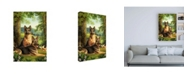 "Trademark Global Dan Craig German Shepards/Chicken Canvas Art - 19.5"" x 26"""