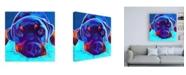 "Trademark Global DawgArt Rottie Dexter 2 Canvas Art - 15.5"" x 21"""
