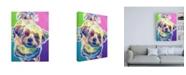 "Trademark Global DawgArt Maltipoo Ziggy Canvas Art - 15.5"" x 21"""