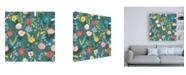"Trademark Global Laura Marshall Wild Garden Pattern XIA Canvas Art - 19.5"" x 26"""