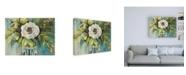 "Trademark Global Jeanette Vertentes Aqua Solo Canvas Art - 15.5"" x 21"""