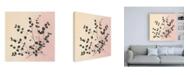"Trademark Global Julia Purinton Botanical Study VII Blush Canvas Art - 15.5"" x 21"""