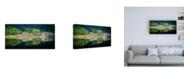 "Trademark Global Lynne Dougla Spring Greens Canvas Art - 36.5"" x 48"""