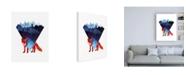"Trademark Global Robert Farka Risky Road Fox Canvas Art - 15.5"" x 21"""