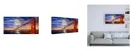 "Trademark Global John Gavrili N. Tower Panorama - GG Bridge Canvas Art - 15.5"" x 21"""