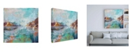 "Trademark Global Julia Hacke Serenity Abstract Canvas Art - 15.5"" x 21"""