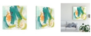 "Trademark Global June Erica Vess Skipping Stones II Canvas Art - 27"" x 33"""