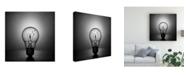 "Trademark Global Victoria Ivanova Fly Away Lightbulb Canvas Art - 20"" x 25"""