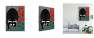 "Trademark Global Marie Sansone Raccoon Xmas Canvas Art - 20"" x 25"""