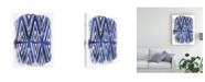 "Trademark Global June Erica Vess Indigo Batik Vignette II Canvas Art - 20"" x 25"""